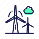 electric, power, wind, windmill icon