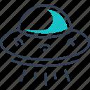 electric, ufo, universe, vehicle icon