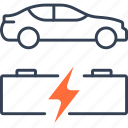 accumulator, car, electric, energy, vehicle icon