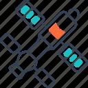 electric, planet, sutellite, vehicle icon