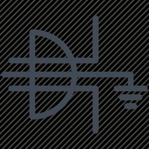 connector, earth, electric, electronic, grounding, plug, socket icon