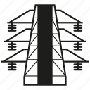 electricity, pole, post, power, tower, transmission icon