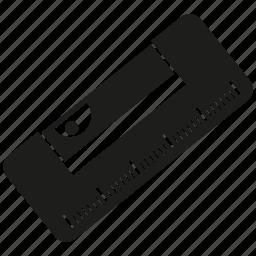 bubble level, level meter, tool icon