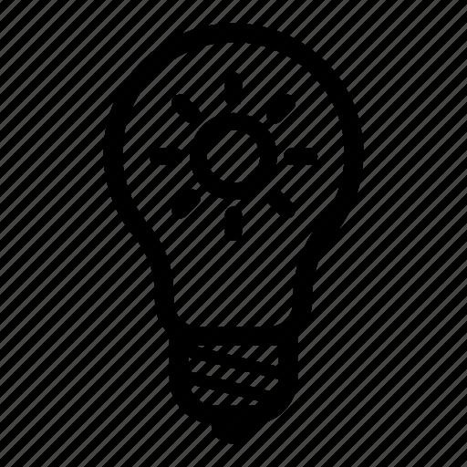 electric, electricity, energy, idea, light, lightbulb, sun icon