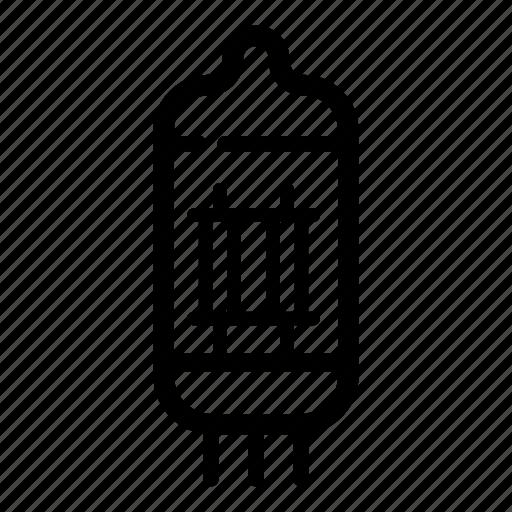 electronic, radio, retro, technology, tube, vacuum, vacuum tube icon