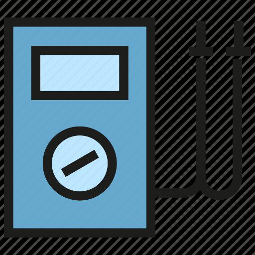 electricity, instrument, multimeter, tool, voltage, voltmeter icon