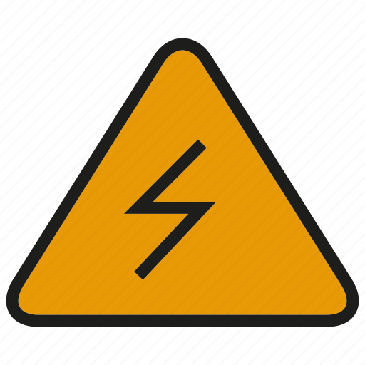 bolt, caution, electricity, high voltage, thunderbolt, warning icon
