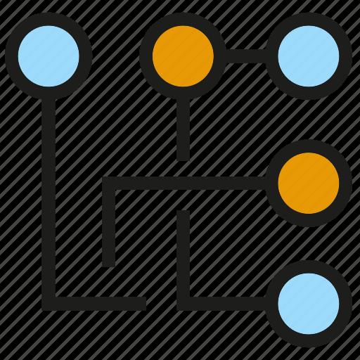 circuit, diagram, electricity icon