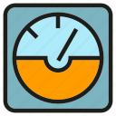 gage, gauge, measure, measurement, meter, metre icon