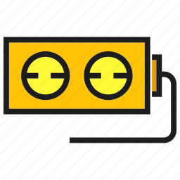 currency, electricity, electronic, outlet, wire icon