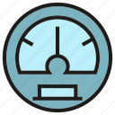 gage, gauge, measure, measurement, meter, metre, speedometer icon