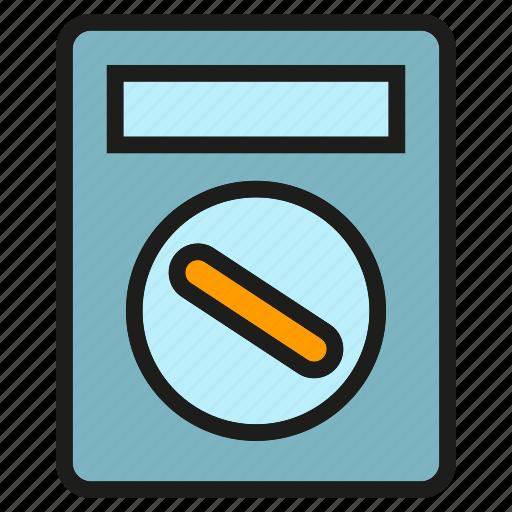 measure, multimeter, scale, tool, voltmeter icon