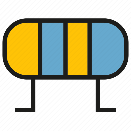 currency, electricity, electronic, resistor icon