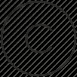 c, key, keyboard, letter, round icon