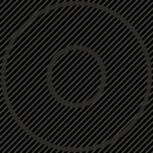key, keyboard, letter, o, round icon