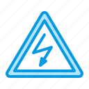 danger, electric, electricity, voltage icon