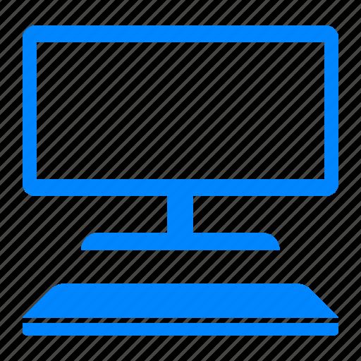 desktop, keyboard, monitor, pc, pc desktop, personal computer, programmer icon