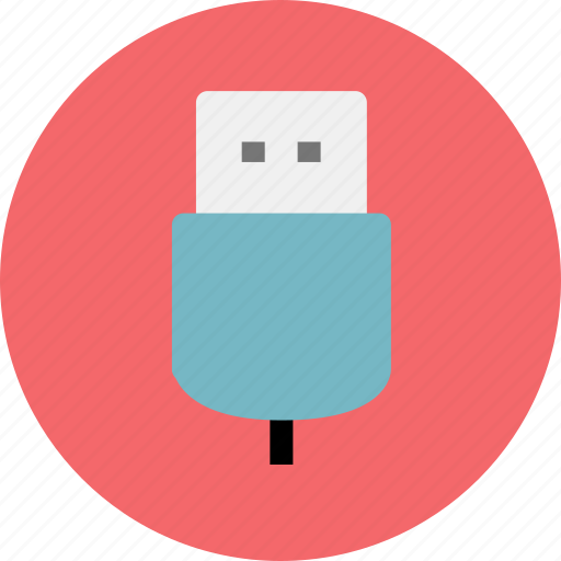 connection, electronic, usb icon