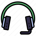 headset, headphone, earphone, audio, sound