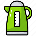 boiler, coffee machine, electric kettle, home appliance, kitchen appliance, tea kettle icon