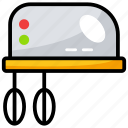 beater, blender, egg beater, electronic, home appliance icon