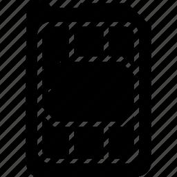 card, mobile, nano, phone, sim, smartphone icon
