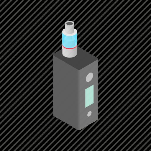cigarette, e-cigarette, electronic, isometric, nicotine, vapor, vaporizer icon