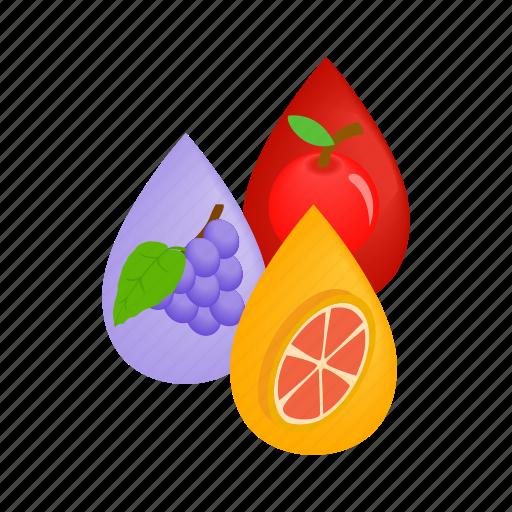design, electronic, fruit, isometric, juice, vape, vaporizer icon