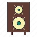 audio, device, electronics, music, sound, speaker icon