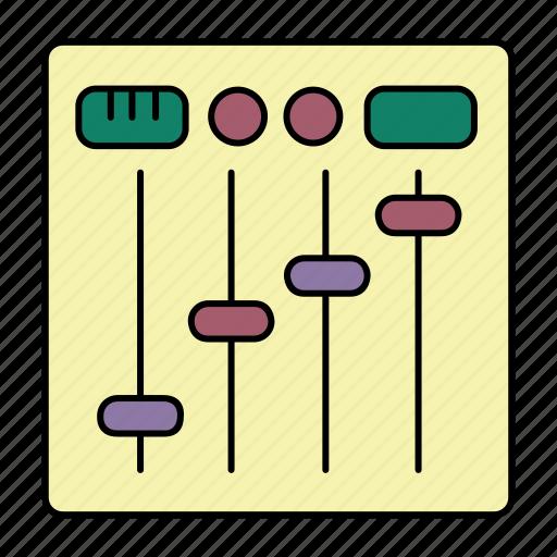 controls, devices, dj, music icon