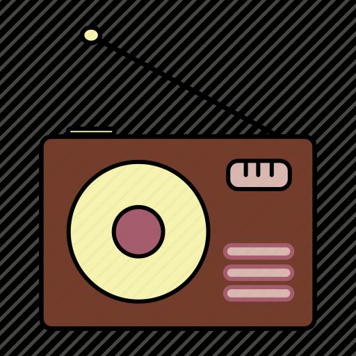 electronic, radio icon