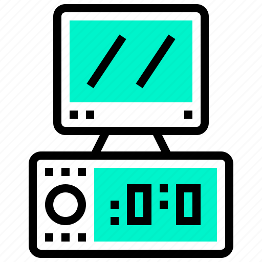 computer, desktop, device, electronic, technology icon