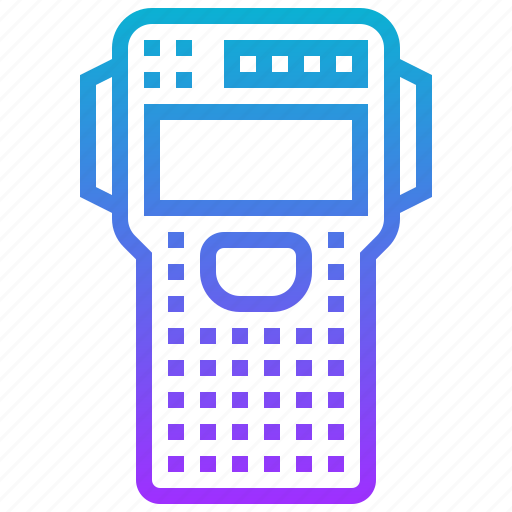 calculator, device, electronic, mathematic icon