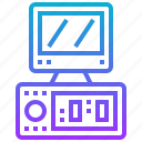 computer, desktop, device, electronic, technology icon