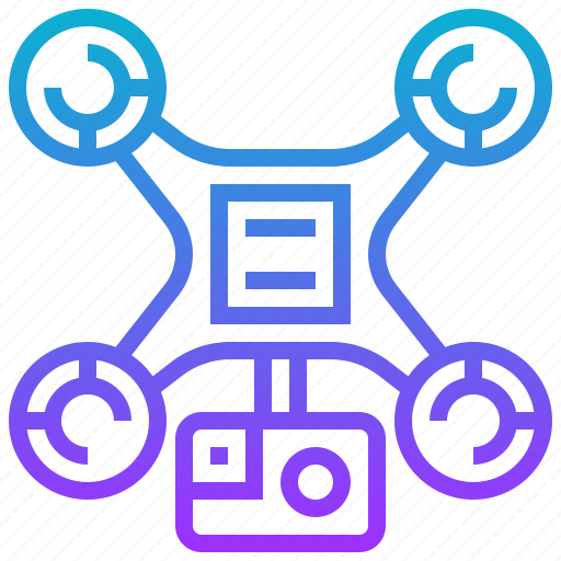 aerial, camera, drone, fly, vehicle icon