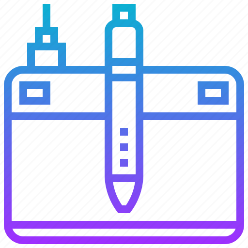 device, drawing, pen, tablet, technology icon