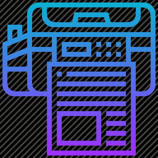 device, document, electric, printer, travel icon