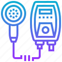 bathroom, electric, heater, shower, water icon