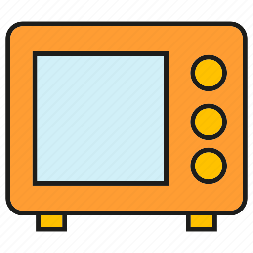 device, electronic, gadget, microwave icon