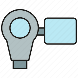 device, electronic, gadget, record, video camera icon