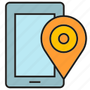 device, electronic, location, mobile, phone, pin, tracking icon