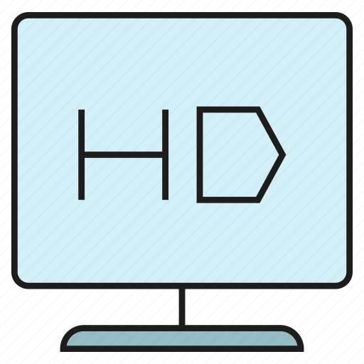 device, electronic, gadget, screen, television, tv icon
