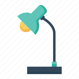 desk, electic, electrical, lamp, light, study, table icon