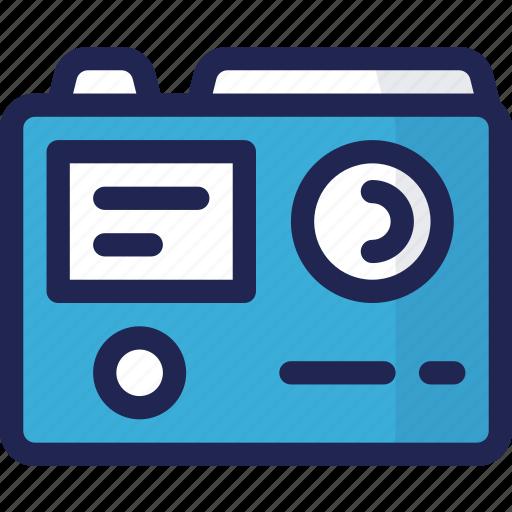 action, camera, device, electronic, multimedia icon