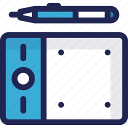 device, electronic, graphic, pen, tablet icon