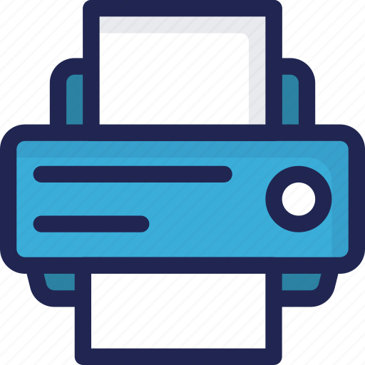 device, electronic, equipment, office, printer icon