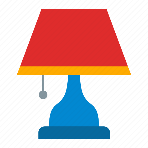 lamp, table lamp icon