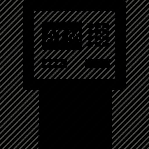 atm, electronic, elements, multimedia, technology icon