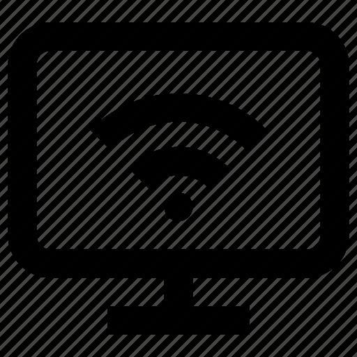 device, electric, electronic, monitor, screen, wifi, wireless icon