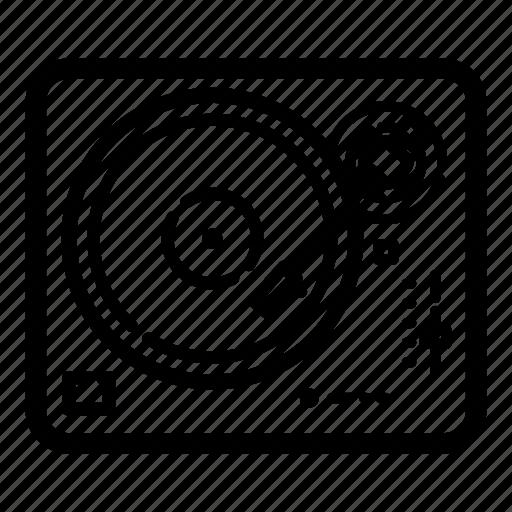 audio, dj, music, record, sound, turntable, vinyl icon